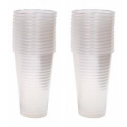 Vaso plastico transparente 220 cc